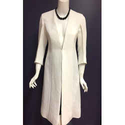 MARNI White Viscose-Blend V-Neck Coat