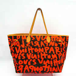 Louis Vuitton Monogram Graffiti Neverfull GM M93702 Tote Bag Orange FVGZ000266