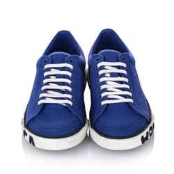Vintage Authentic Balenciaga Blue Canvas Fabric Match Sneaker Italy