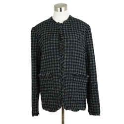 Msgm Black White Silver Cotton Polyamide Jacket Sz 8