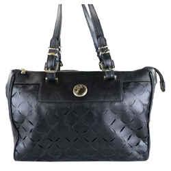 Versace Collection Borsa Black Leather Shoulder Bag