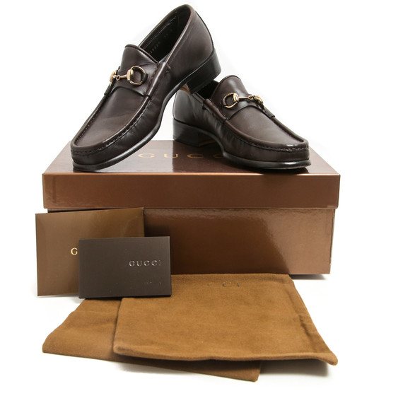 Gucci Espresso Brown Brass Horsebit Loafers