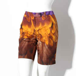 Prada Feather Print Shorts