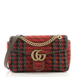 GG Marmont Flap Bag Tweed Small