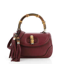 New Bamboo Convertible Top Handle Bag Leather Medium