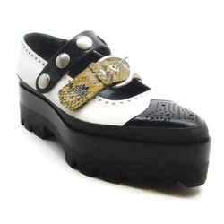 Mulberry Black and White Double Strap Platforms