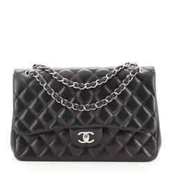 Classic Double Flap Bag Quilted Lambskin Jumbo