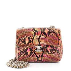 Chanel Classic Single Flap Bag Python Mini