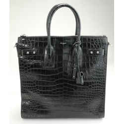 Saint Laurent Crocodile-Effect Tote Bag