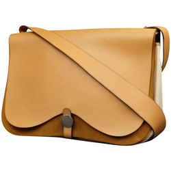 Hermes Tan Leather Colorado GM Double Flap Messenger Bag 2247350