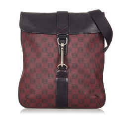Red Loewe Printed Anagram Leather Crossbody Bag