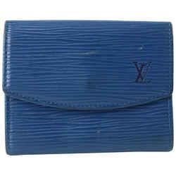 Louis Vuitton Blue Epi Leather Coin Pouch Change Purse Wallet 505lvs68