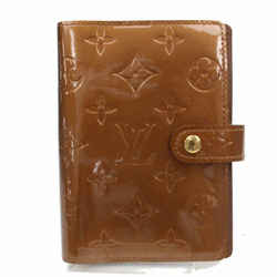 Louis Vuitton Small Ring Agenda Diary Cover PM Vernis Monogam Bronze Copper 872748