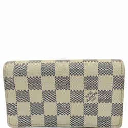 Louis Vuitton Zippy Damier Azur Wallet White