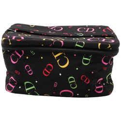 Dior Black Multicolor CD Logo Vanity Case 861398