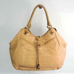 Salvatore Ferragamo GG-21 D114 Women's Leather Tote Bag Light Beige BF535402