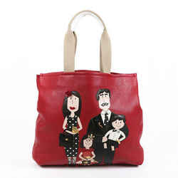 Dolce & Gabbana Bag Family Shopping Red Leather Tote