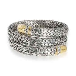 John Hardy Palu Coil Bracelet in 22K Yellow Gold/Sterling Silver