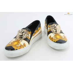 Versace Baroque Print With Medusa Head Slip-on Sneakers