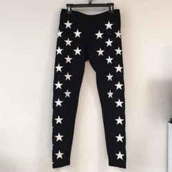 Gareth Pugh Embroidered Black White Star Skinny Size: 8 (M, 29, 30)