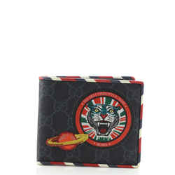 Night Courrier Bifold Wallet GG Coated Canvas with Applique