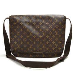 Louis Vuitton District MM Monogram Macassar Canvas Large Messenger Bag LU227