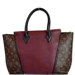 Louis Vuitton W Pm Monogram Canvas Tote Bag Burgundy