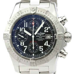 Polished BREITLING Avenger Chronograph Steel Automatic Watch A13380 BF521093