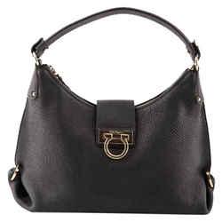"Salvatore Ferragamo Leather 'fanisa' Shoulder Bag 16""L x 12""H x 3""W"