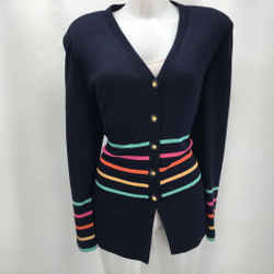 St John Navy Cardigan Sweater 10