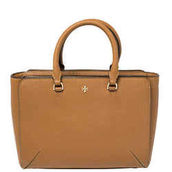 Tory Burch Brown Leather Micro Robinson Tote