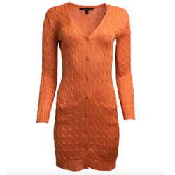 Ralph Lauren Black Label Cable Knit Orange Sweater