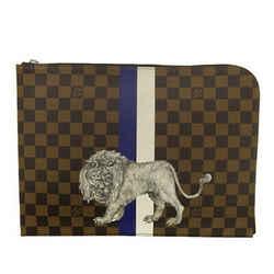 Auth Louis Vuitton Louis Vuitton Damier Savannah Pochette Jules Gm Clutch Bag N6