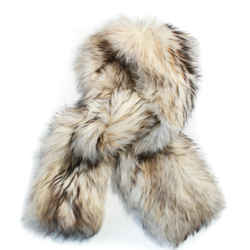 Versace - Fur Scarf - Long Soft Marmot Rectangle - White - Tan - Long