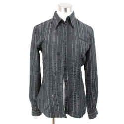 Armani Collezioni Black Blouse with White Pattern Size 4