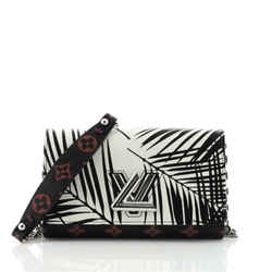 Twist Chain Wallet Limited Edition Palm Print Leather with Monogram Infrarouge