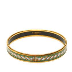 Gold Hermes Enamel Bangle