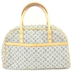 Louis Vuitton Navy Monogram Mini Lin Marie Speedy Boston Bag 862473