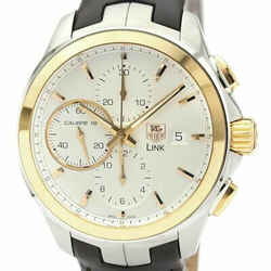 Polished TAG HEUER Link Calibre 16 Chronograph Automatic Watch CAT2050 BF534185