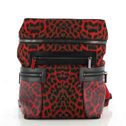 Apoloubi Backpack Printed Nylon and Leather