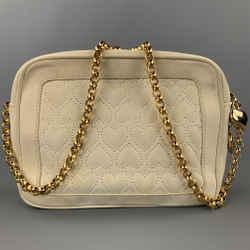 ESCADA Cream Quilted Suede Cross Body Handbag