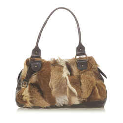 Brown Fendi Fur Shoulder Bag