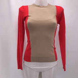 Theory Red Colorblock Sweater XS