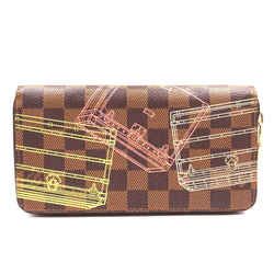 Louis Vuitton Damier Ebene Multicolors Zip Around Organizer Long Wallet