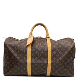 Louis Vuitton Keepall 50 Monogram Canvas Travel Bag Brown