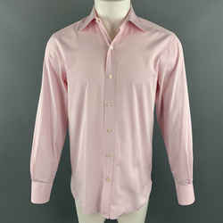 Tom Ford Size M Pink Cotton Button Up Pointed Collar Long Sleeve Shirt