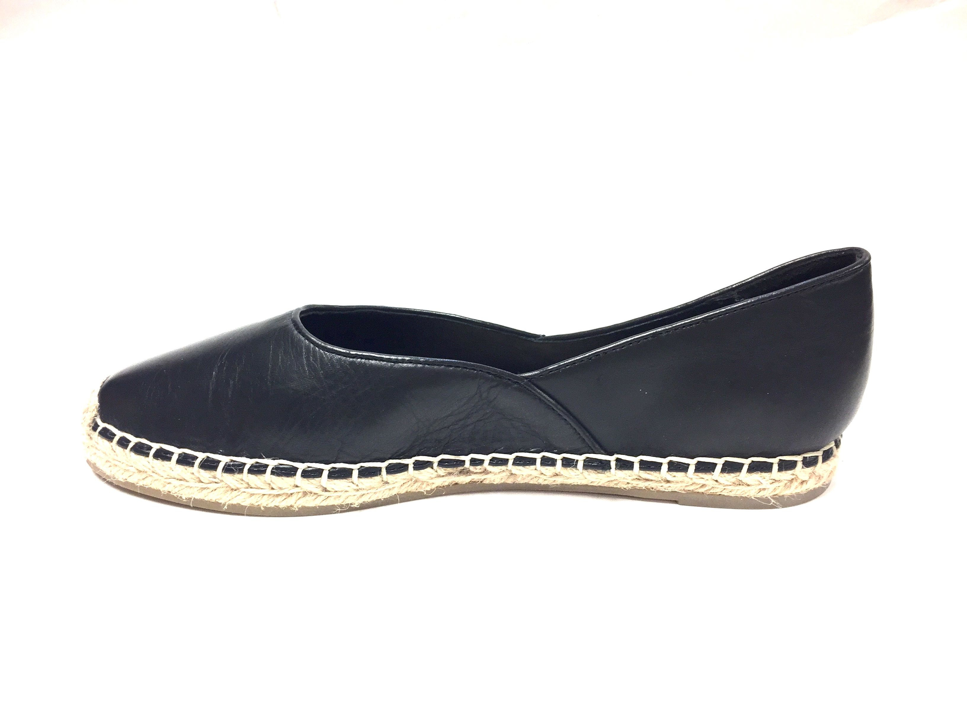 New EILEEN FISHER Black Leather Flat