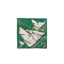 Hermes Green Claque Au Vent 90 Cm Silk Scarf
