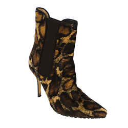 Manolo Blahnik | Animal Print Booties