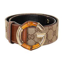 Gucci Bamboo Canvas Belt